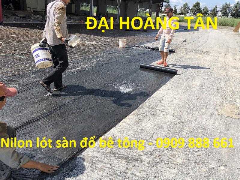 nilon lót sàn đổ bê tông màu đen